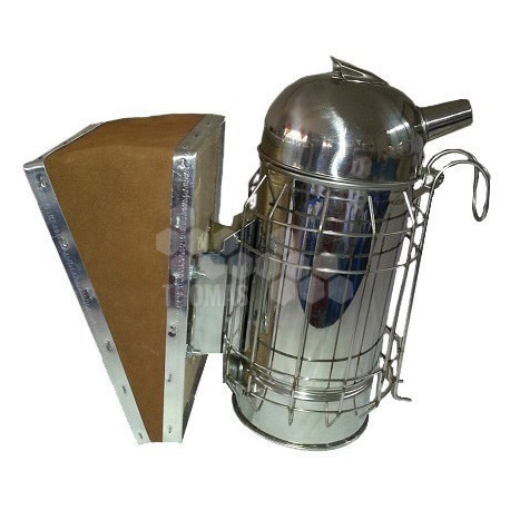 ENFUMOIR INOX TRADITIONNEL SOUFFLET CUIR (H : 180 MM)